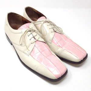Stacy Adams Pink Alligator Square Dress Shoes 13